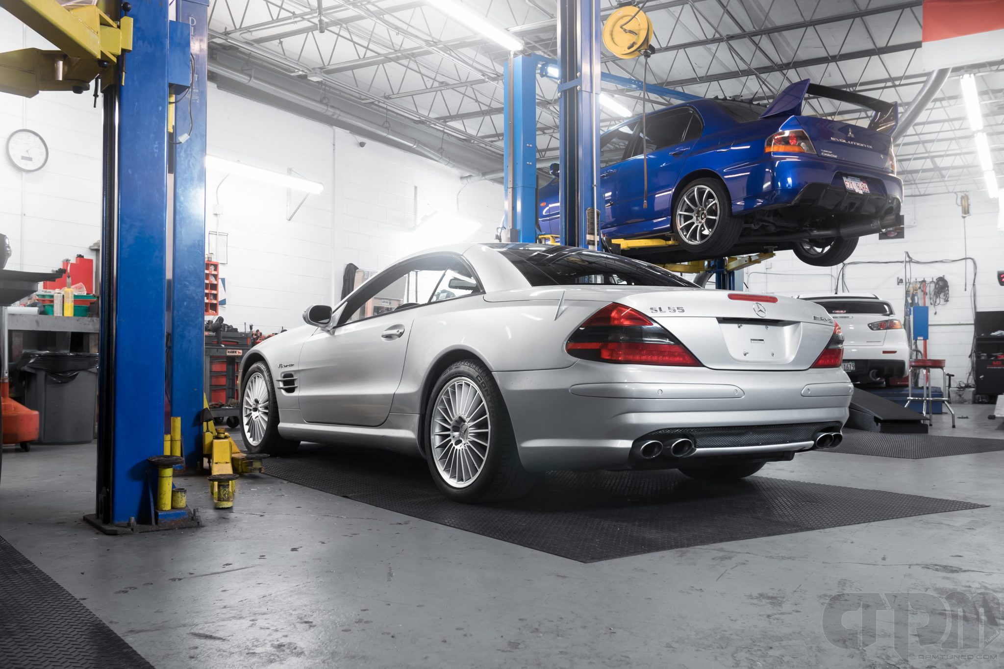 Mercedes SL55 AMG in our shop space