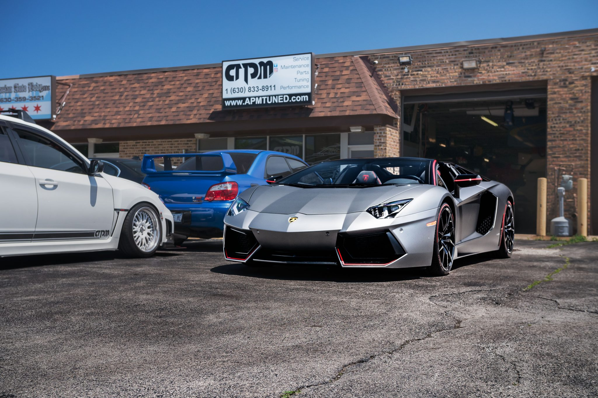 Lamborghini 2016 Aventador LP700 outside of our Villa Park location