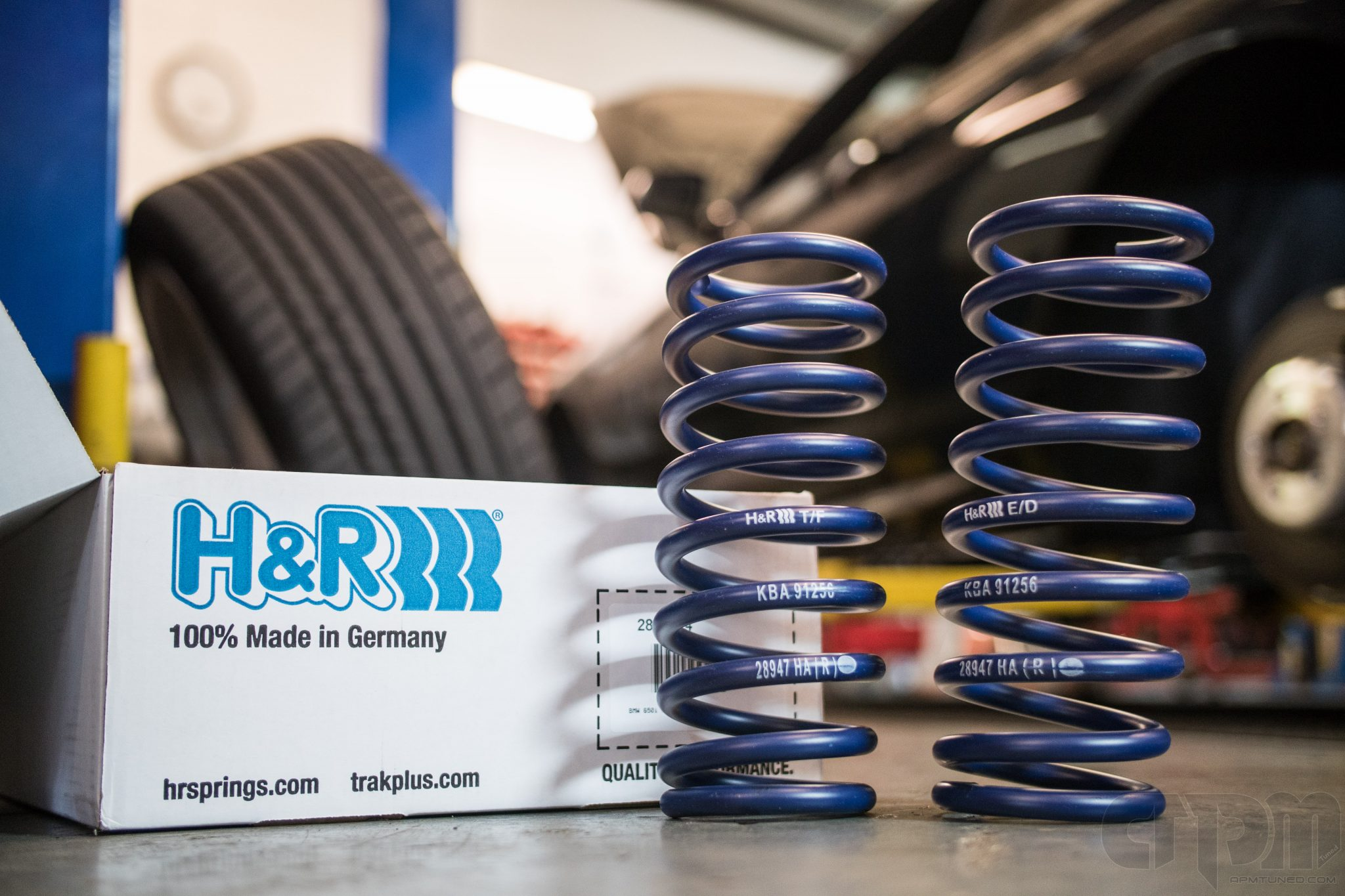 H&R Suspension springs getting ready to go on a BMW M series